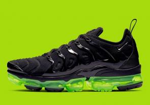 nike air vapormax plus  2019 black green